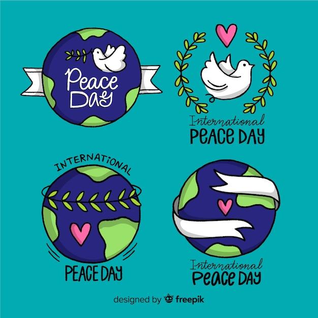 Mão desenhada coleção dia da paz Vetor grátis