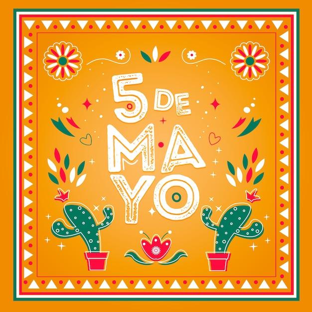 Mão desenhada conceito de cinco de maio Vetor grátis