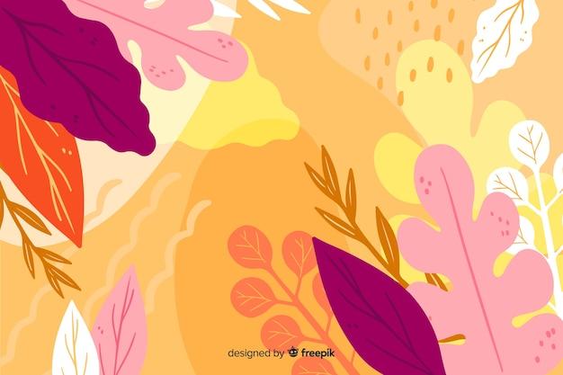 Mão desenhada floral abstrato Vetor grátis