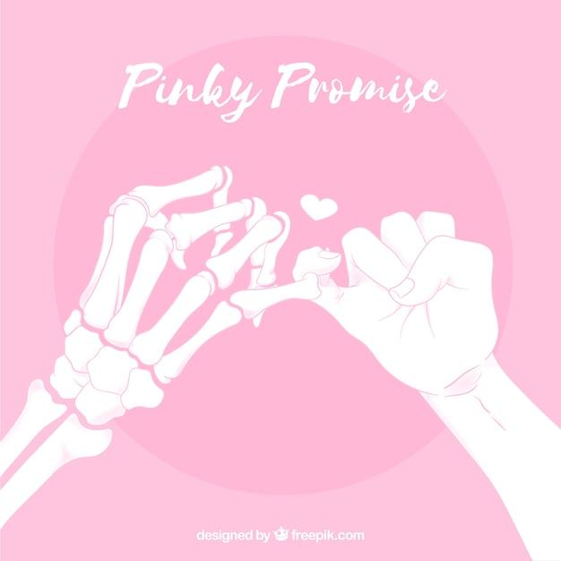 Mão desenhada pinky promessa composição Vetor grátis
