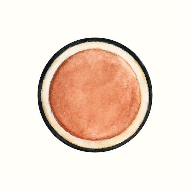 Mão desenhada produto cosmético isolado no fundo branco Vetor grátis