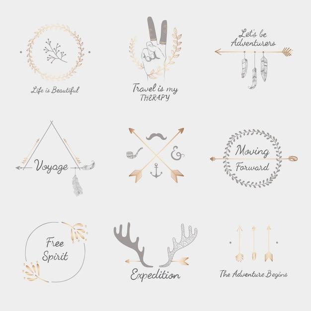 Mão desenhada viagem design coleção Vetor grátis