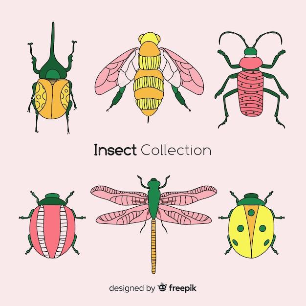 Mão, desenhado, inseto, cobrança Vetor grátis