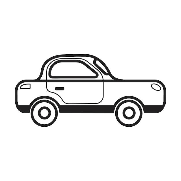 Mão, desenhado, sedan, car, ilustração Vetor grátis