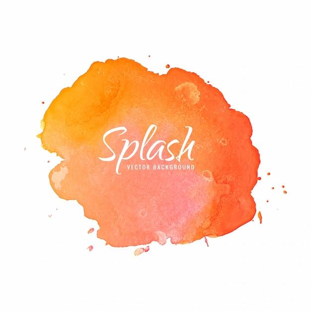 Mão desenhar fundo aquarela splash colorido Vetor grátis