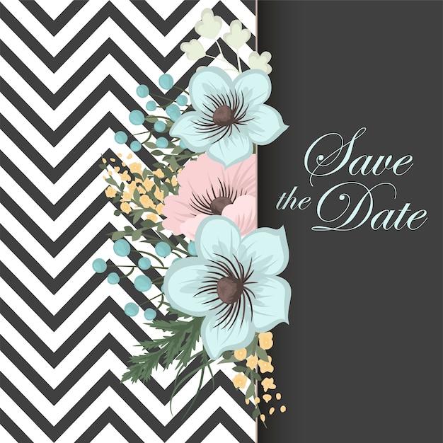 Mão, desenho, seamless, padrão floral Vetor grátis