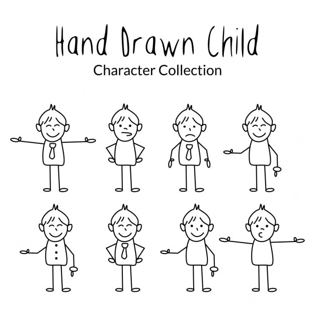 Mao Dos Desenhos Animados Desenho Para Criancas Vetor Gratis