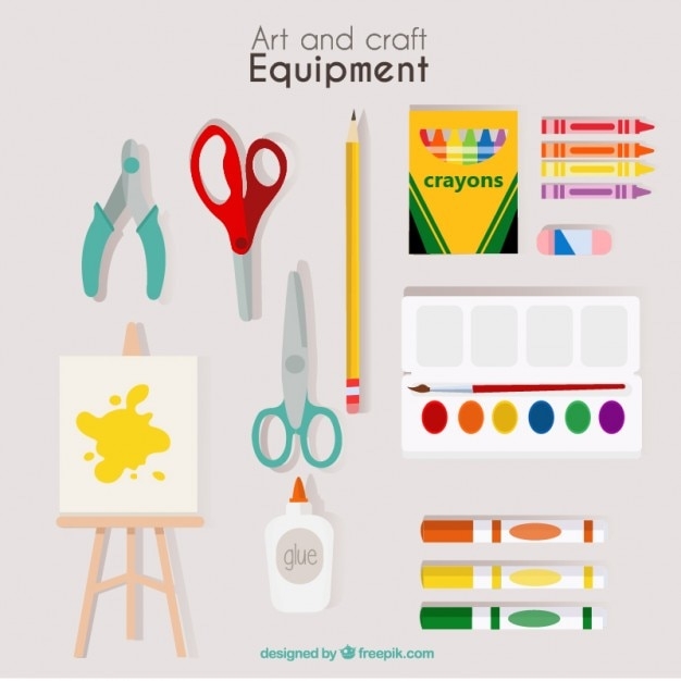 Mão equipamentos artística desenhada Vetor grátis