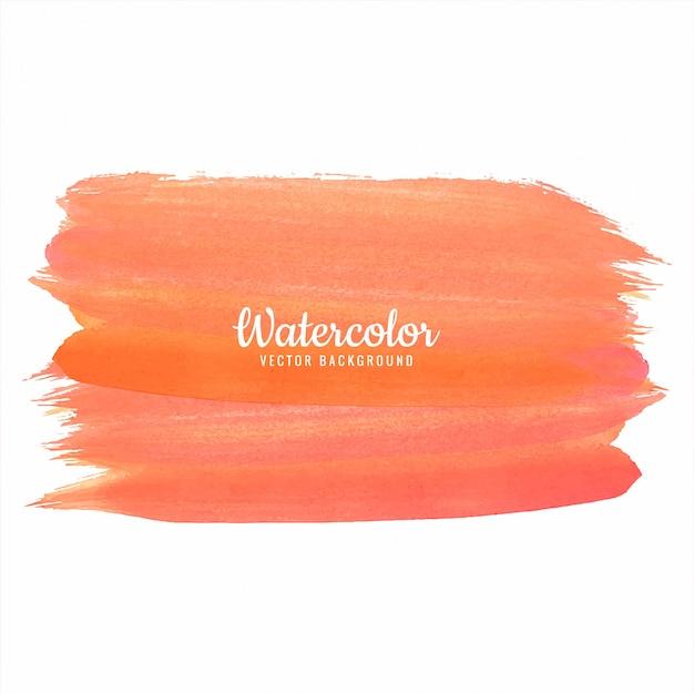 Mão laranja abstrata desenhar projeto aquarela de traçado Vetor Premium