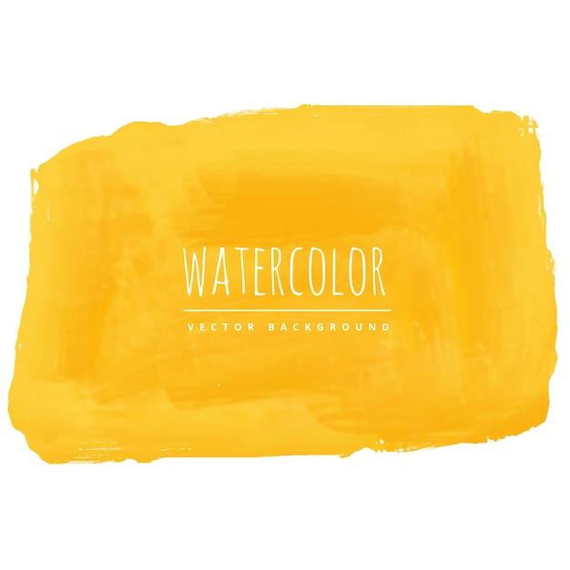 Mão, pintado, amarela, aguarela, textura, fundo Vetor grátis