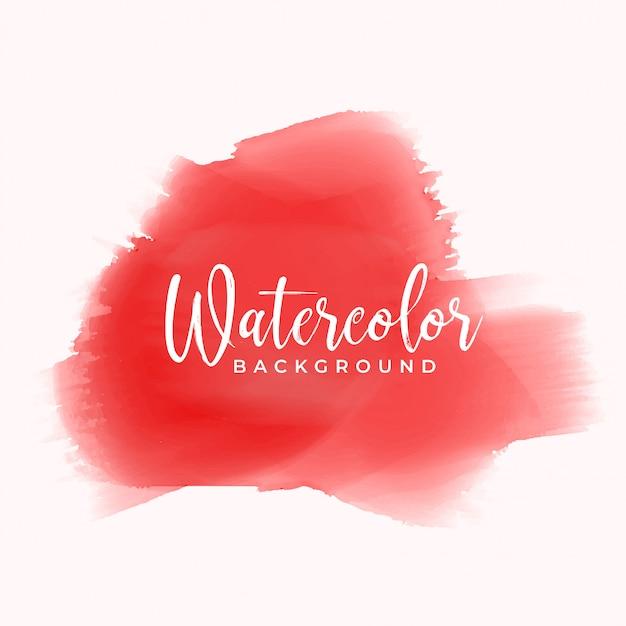 Mão vermelha pintada em aquarela textura de fundo Vetor grátis