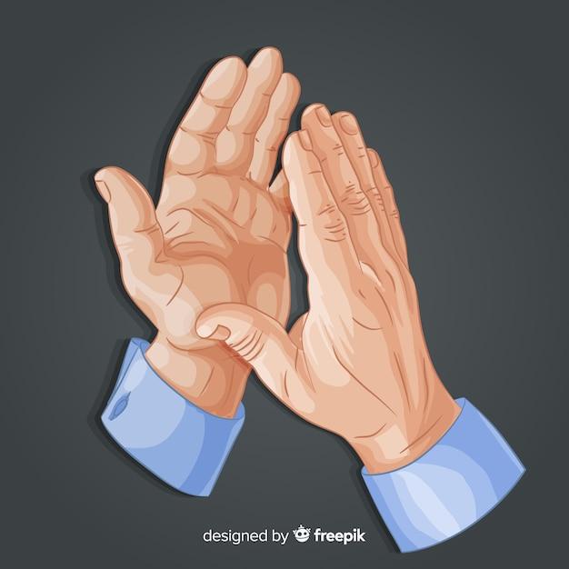 Mãos batendo palmas Vetor grátis