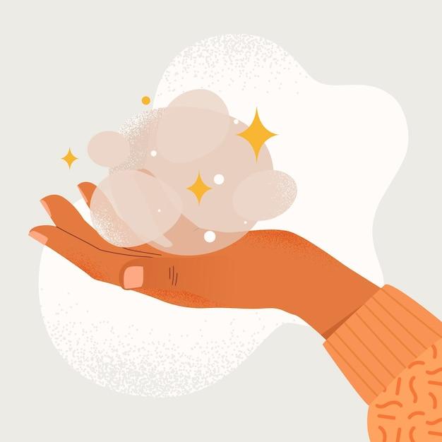Mãos de cura energética Vetor grátis
