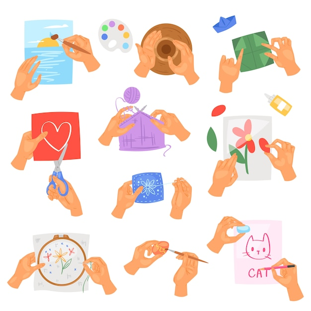 Mãos de passatempo instruções de vetor de lavar ou limpar as mãos com sabão e espuma no conjunto de antibacteriano de ilustração de água de skincare saudável com bolhas isoladas Vetor Premium