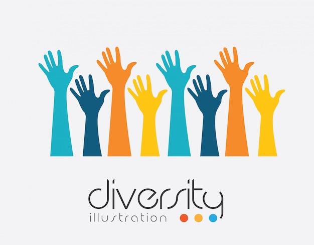 Mãos, desenho, vetorial, ilustração Vetor Premium
