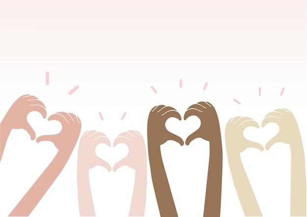 Mãos, fazendo, coração, sinal, cima Vetor Premium