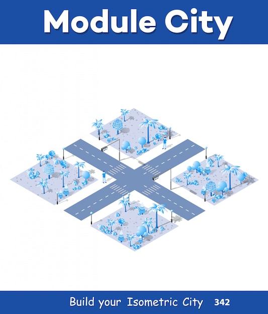 Mapa 3d da cidade em branco Vetor Premium