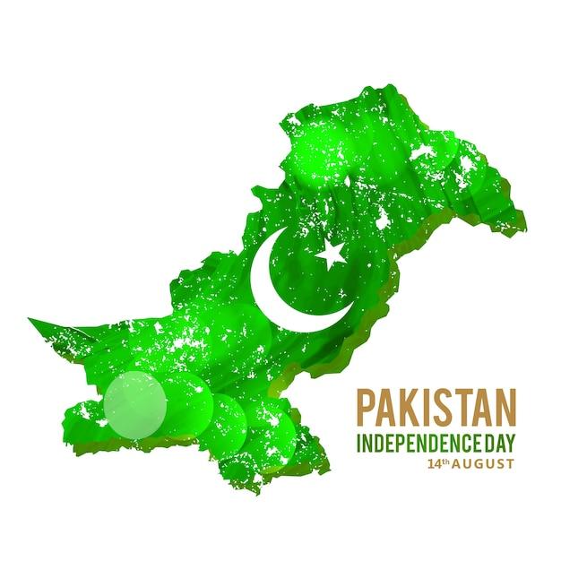 Mapa abstrato de paquistão Vetor grátis
