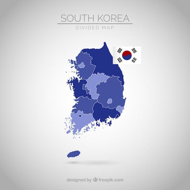 Mapa da coreia do sul Vetor grátis