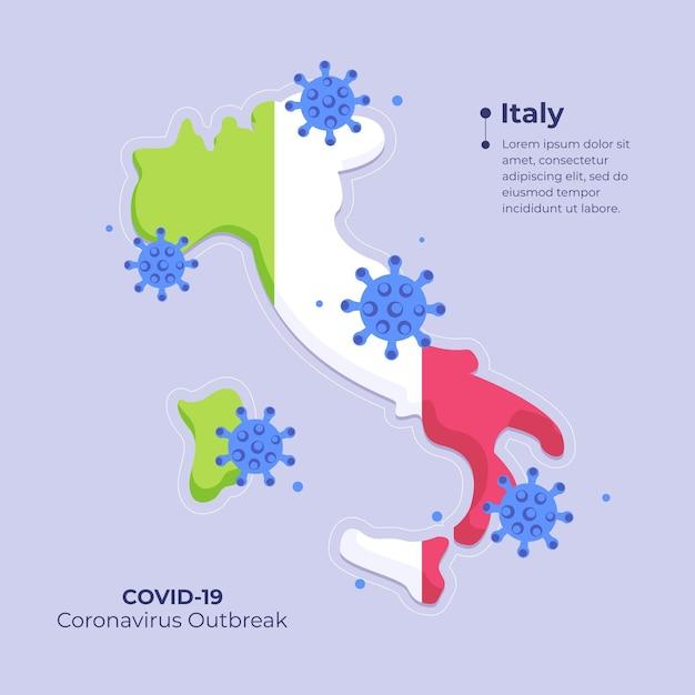 Mapa de coronavirus Vetor grátis