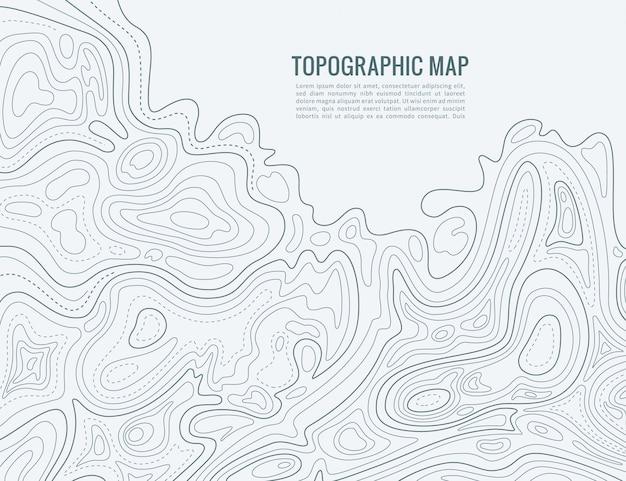 Mapa de linhas de contorno. textura de cartografia contorno contorno elevação. mapa de relevo topográfico Vetor Premium