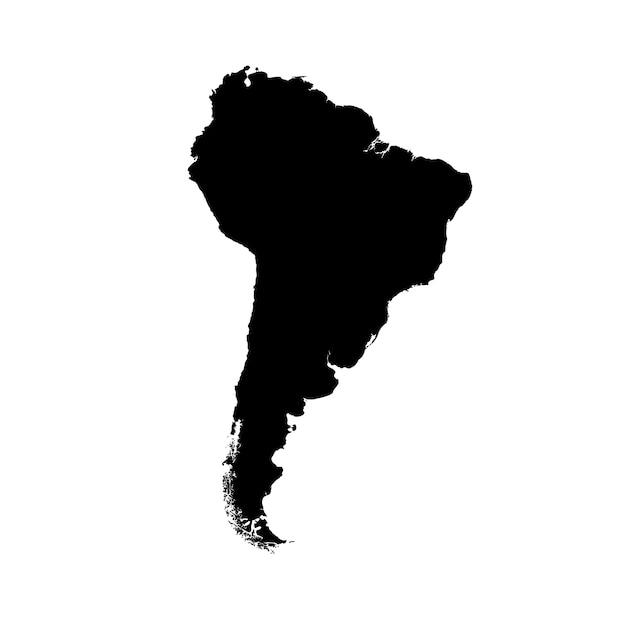 Mapa detalhado da américa do sul Vetor Premium