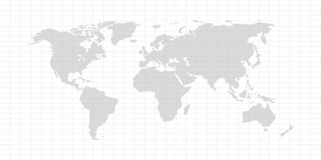 Mapa do mundo de vetor Vetor Premium