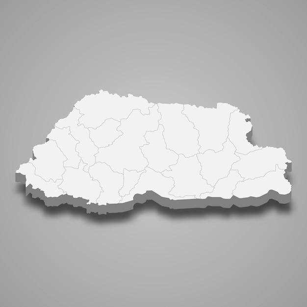 Mapa do país com fronteiras Vetor Premium