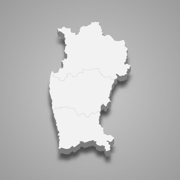 Mapa isométrico de coquimbo é uma região do chile Vetor Premium