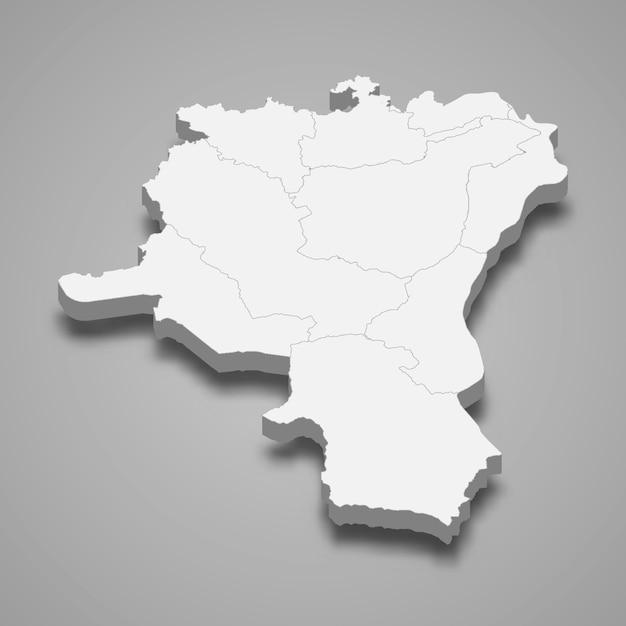 Mapa isométrico de st. gallen é um cantão da suíça Vetor Premium