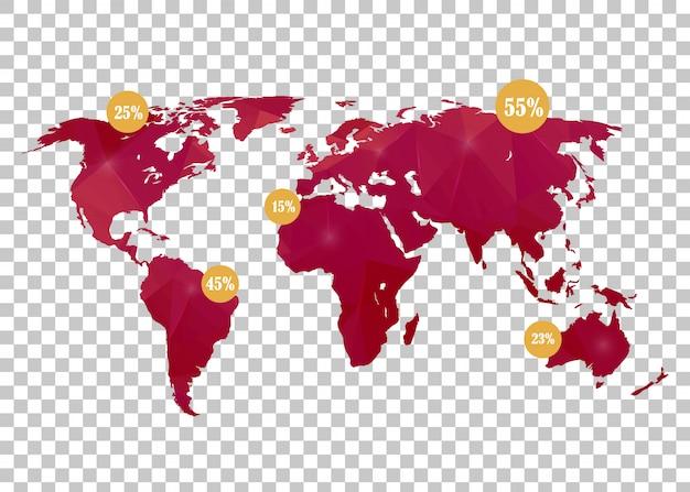 Mapa mundial. Vetor Premium