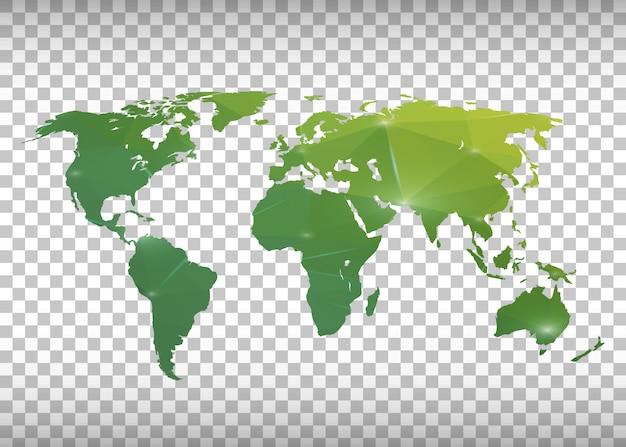 Mapa mundial Vetor Premium