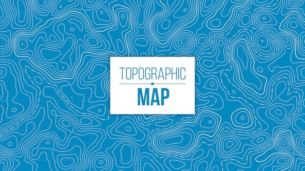 Mapa topográfico. grade de trilha de caminhadas de montanha. Vetor Premium