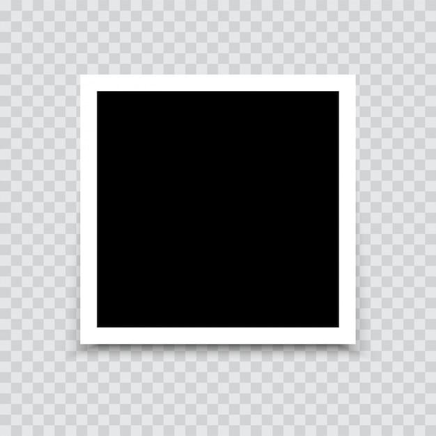 Maquete da moldura de foto vazia com sombra. vetor. Vetor Premium