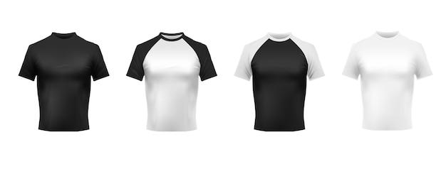 Maquete de camiseta preta e branca Vetor grátis