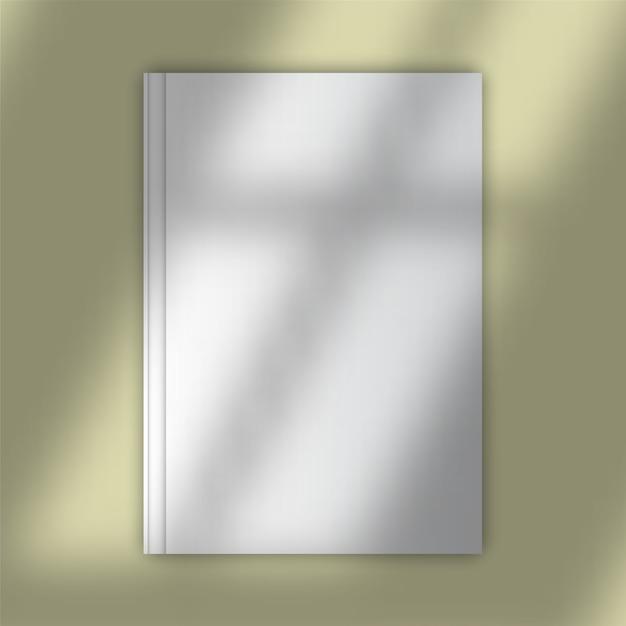 Maquete de capa de livro em branco com sobreposição de sombra Vetor grátis