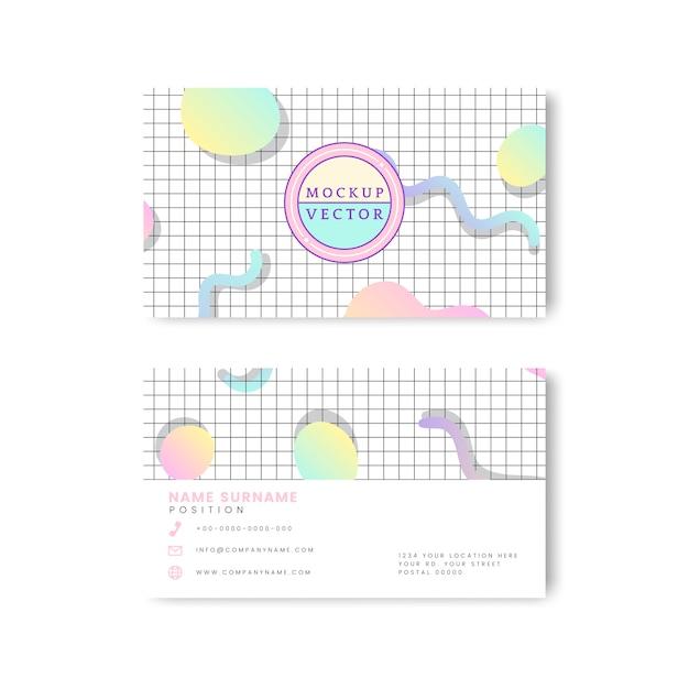 Maquete de cartão de nome pastel Vetor grátis
