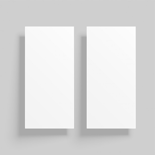 Maquete de cartão vertical com sombras Vetor grátis