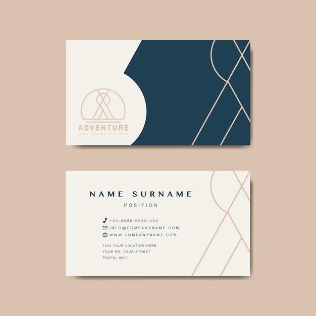 Maquete de design de cartão premium Vetor grátis