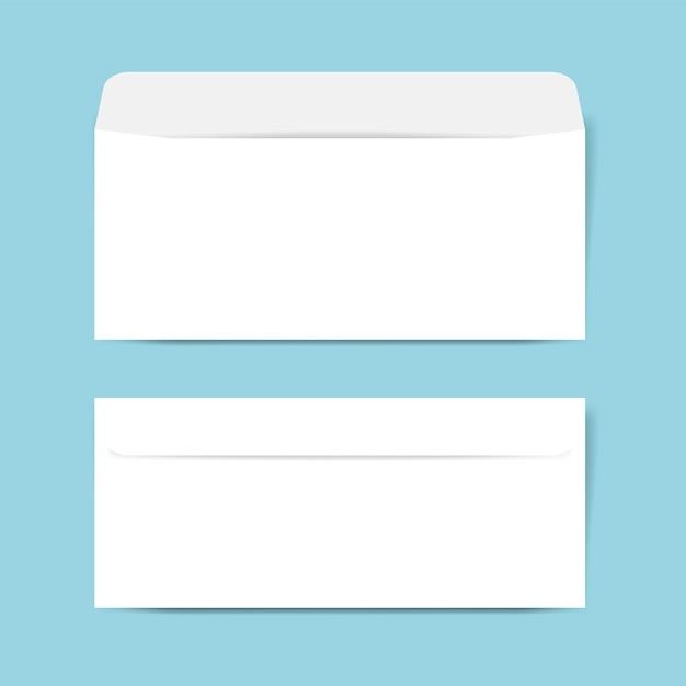 Maquete de design de envelope de papel Vetor grátis