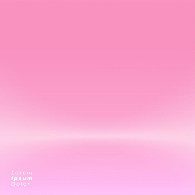 Maquete de design de fundo rosa studio Vetor grátis