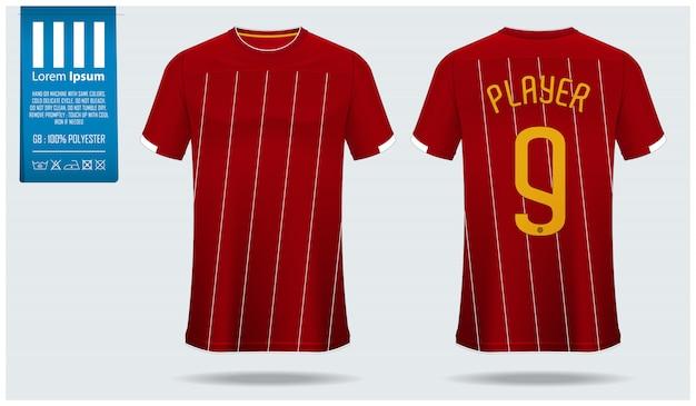 Maquete de futebol jersey ou modelo de kit de futebol. Vetor Premium