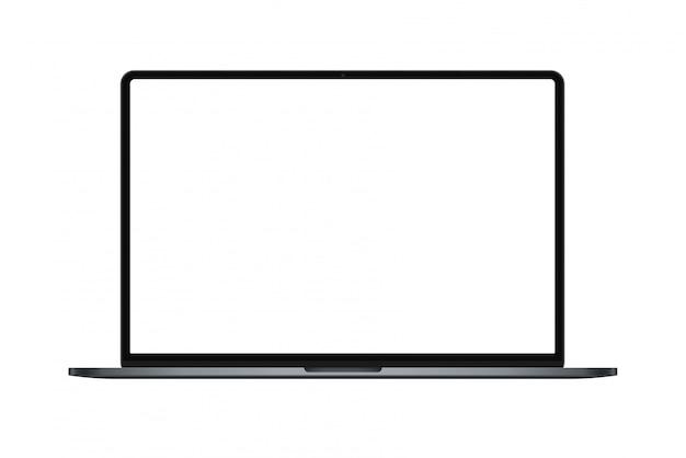 Maquete de laptop moderno quadro fino Vetor Premium