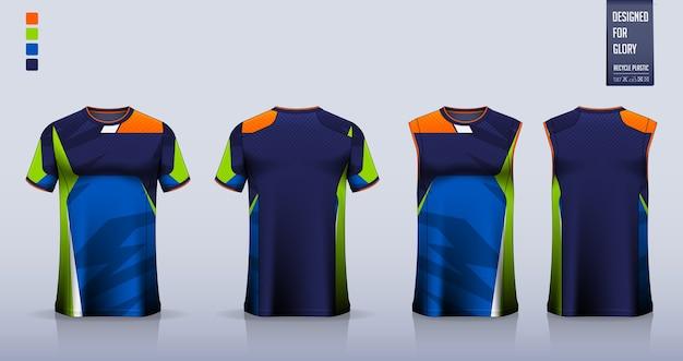 Maquete de t-shirt. modelo de design de camisa esporte. Vetor Premium