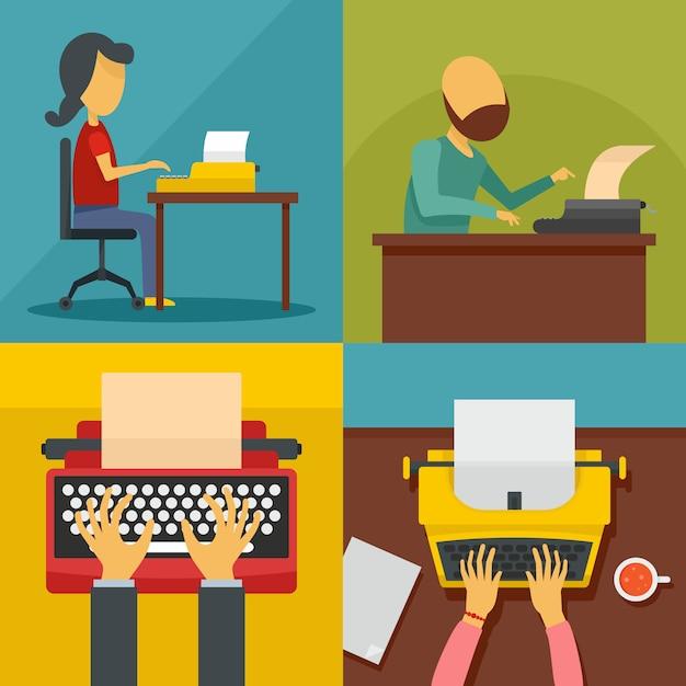 Máquina de escrever Vetor Premium