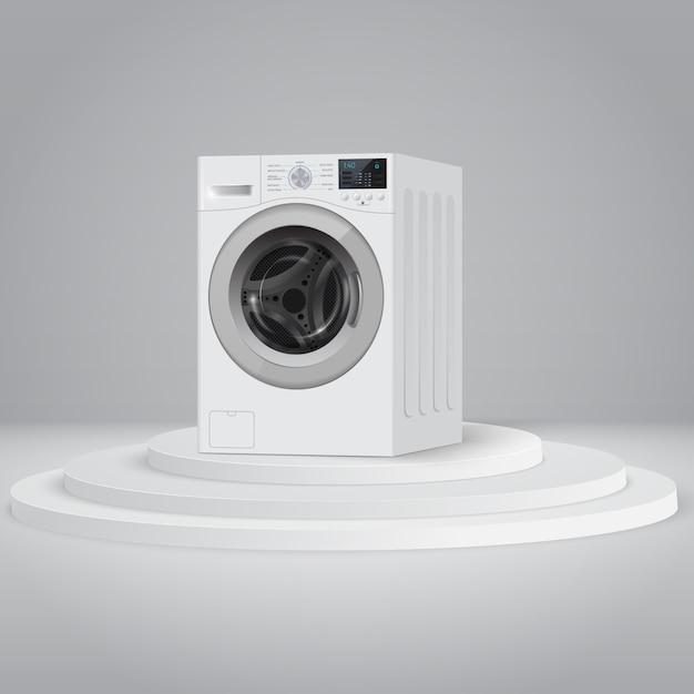 Máquina de lavar Vetor Premium