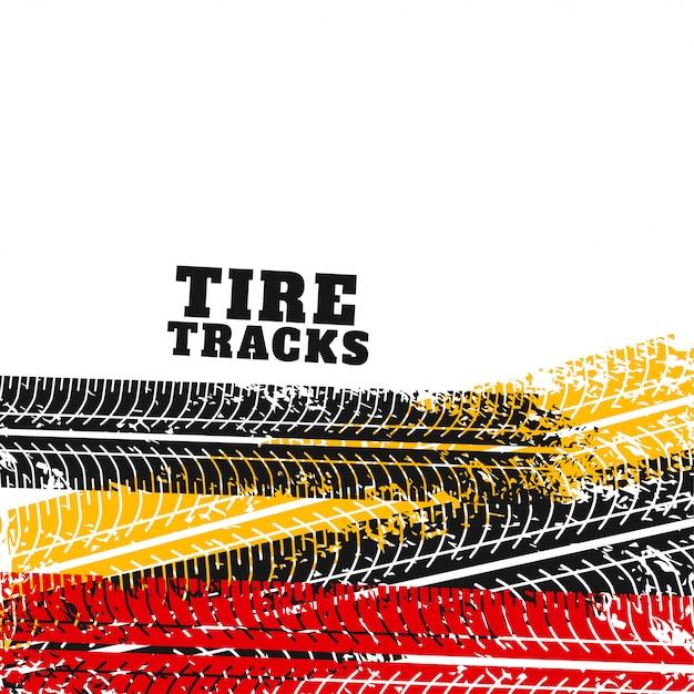Marca de pneus marca backgorund em cores diferentes Vetor grátis