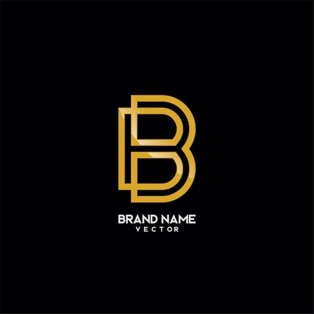 Marca logotipo modelo monograma b símbolo Vetor Premium
