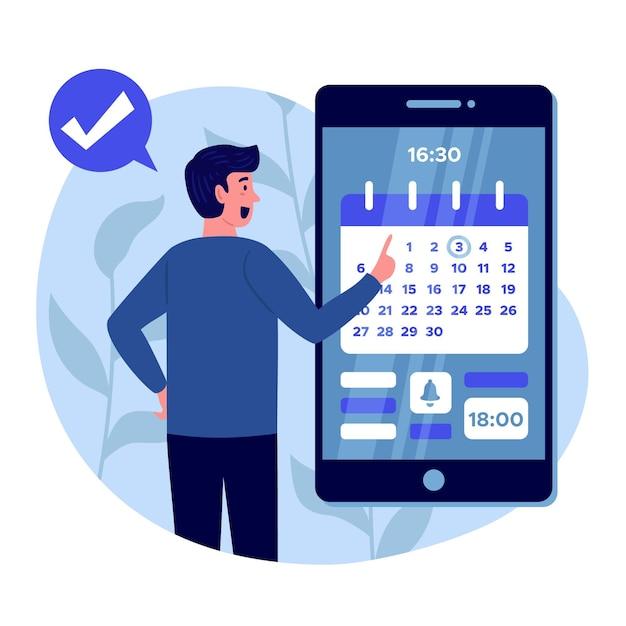 Marcação de consulta no conceito de smartphone Vetor grátis
