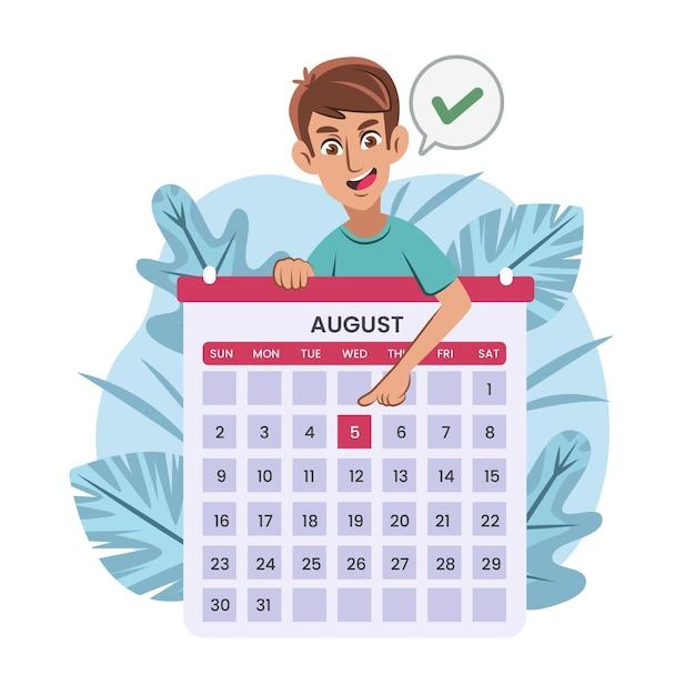 Marcação de consultas com calendário Vetor grátis